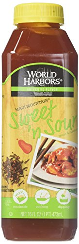 World Harbor, Maui Mountain, Hawaiian Style Sweet & Sour Sauce,Two 16oz Bottles