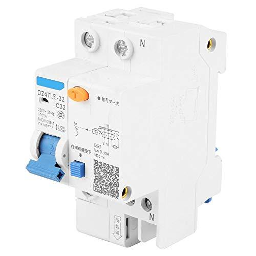 Interruttore differenziale 1P+N 32A 30mA, Bianco
