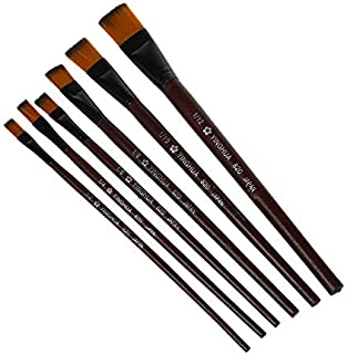 Branded SLB Works New 10X(Pack of 6 Art Brown Nylon Paint Brushes for Acrylic B7B6)