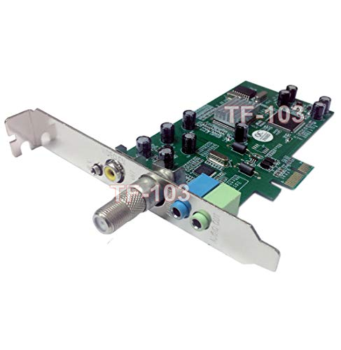 AllAboutAdapters Universal TV FM Tuner DVR Video Capture PCI Express Card Card for Desktop PC Win8/8.1 Win7 XP