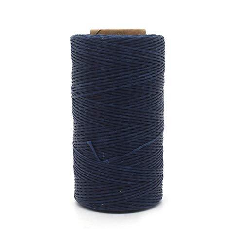 Leer Craft 260m 1mm Lederen Naaien Waxed Thread Beitel Awl Bekleding Schoenen Bagage Gereedschap 20 Kleuren Donkerblauw