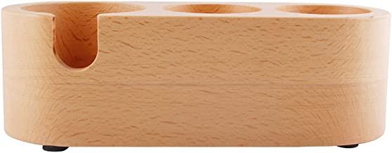 Porta-adulteradores de madeira para café -Slip Filling Pow Base Coffee ing Hammer Tapete Home Coffee Maker Suporte Base Ra...