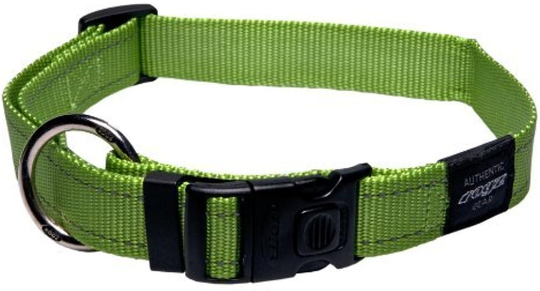Rogz Utility Extra Large 1 Lumberjack SideRelease Reflective Dog Collar, Lime by Rogz