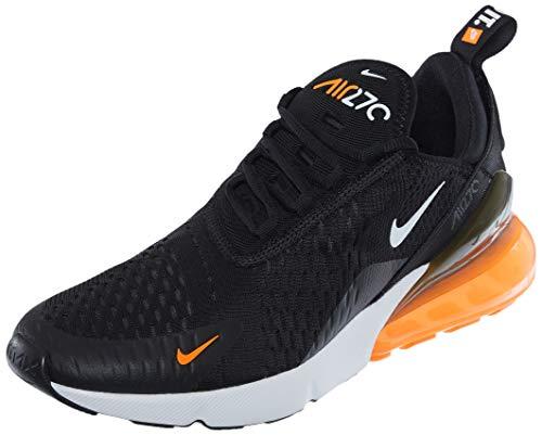 Nike Air Max 270, Scarpe da Corsa Uomo, Black/White/Total Orange, 39 EU