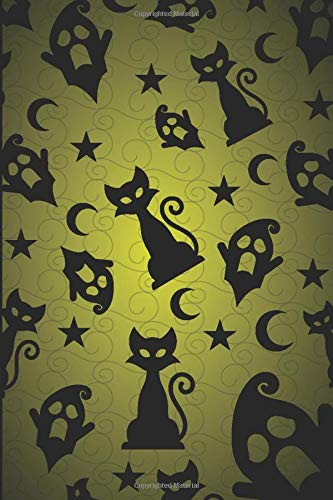 Ghostly Cats Lined Notebook & Journal