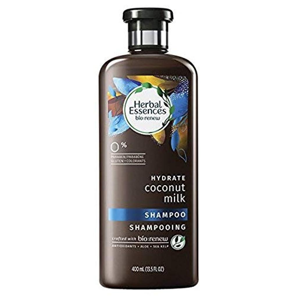揃える持続的楽しませるHerbal Essences Biorenew水和物ココナッツミルクシャンプー、13.5液量オンス(2パック)