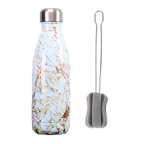 Borraccia Termica Borraccia Acciaio Inox Bottiglia d'acqua Piccola Bottiglia di Acqua Tazza di Acqua di Sport Bottiglie di bevande Per Adulti kinsala,500ml