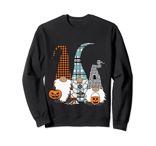 Trick Or Treat 3 nordische Zwerge Jack O Laternen Halloween Sweatshirt