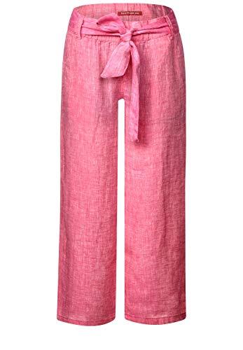 Street One Damen Leinenhose mit weitem Bein 26'' Blossom pink 34