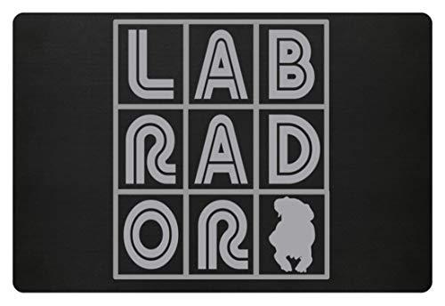 generisch Labrador - Kreuzworträtsel - Fußmatte -60x40cm-Schwarz