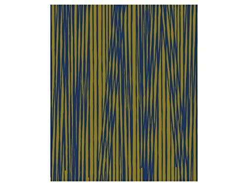 Present Time Oblique Lines Couverture Polaire Vert Olive/Bleu 180 x 150 cm
