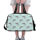XiexHOME Gimnasio para Hombre Duffel Natural Wild Cute Animal Kangaroo Yoga Gym Totes Bolsos de Fitness Bolsos de Lona Bolsa de Zapatos para Equipaje Deportivo Womans para Mujer al Aire Libre Bolsa d