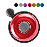 Aluminum Bike Bell, Loud Sound Bicycle Bell for Adults Kids Girls Boys (Red)