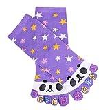 Aisoway Toe Socks Cotton Wicking Atletico Medio Cut Caviglia Cinque Dita Soxs per Ragazzi Ragazze 1 Paio