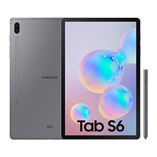 Samsung Galaxy Tab S6 Tablet da 10.5' (128 GB, S pen incluso), Display sAMOLED, LTE, Grigio[Versione Spagnola]