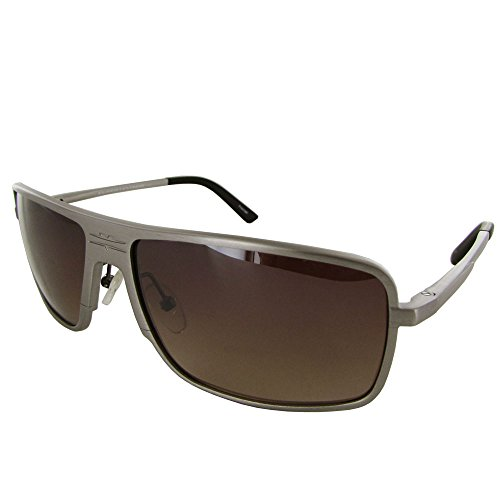Vuarnet Extreme Unisex VE 7004 Square Aviator Polarized Sunglasses, Matte Grey