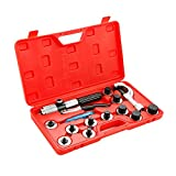 Wostore Tube Expander Tool Kit 11 Head Sizes 3/8, 1/2, 5/8, 3/4, 7/8, 1, 1-1/8, 1-1/4, 1-3/8, 1-1/2, 1-5/8 Inches Copper Pipe with Tube Cutter and Deburring Tool