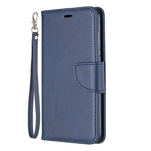 Lomogo Funda [Huawei P20 Pro], Cartera Funda de Cuero Ranuras para Tarjetas Cierre Magnetico Soporte Plegable Carcasa Antigolpes para Huawei P20Pro - LOBFE150353 Azul