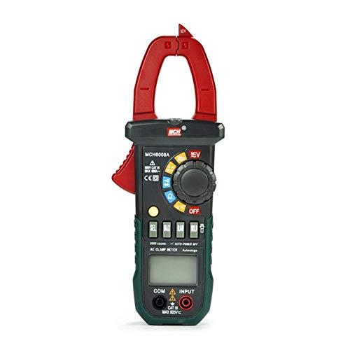 LHQ-HQ Pantalla digital eléctrica probador MCH-600A Pinzas amperimétricas multímetro digital AC DC Current Meter Medidor de abrazadera universal del probador del medidor de alta precisión