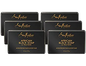 Shea Moisture Soap with Shea Butter Acne Prone Face and Body Bar 3.5 Ounce  6 Pack