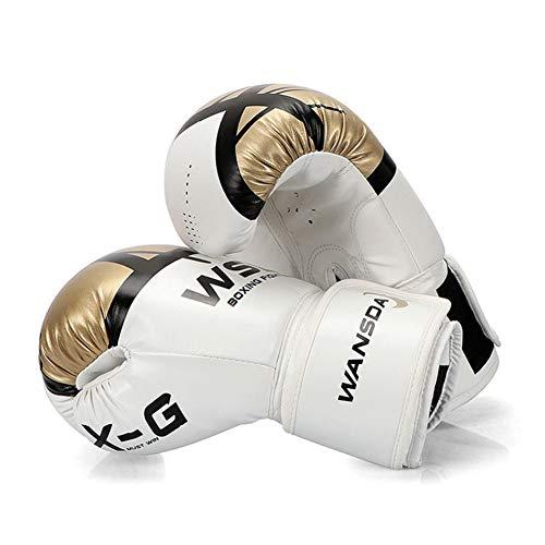 WOLIGEQ Boxhandschuhe Muay Thai Kick Boxhandschuhe PU Leder Boxhandschuhe Für Männer Frauen Training in MMA Grant Boxhandschuhen Sanda Handschuhe, Gelb