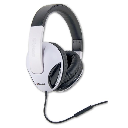 Oblanc Cobra200 Stereo Headphone With 50mm Driver In Line Microphone White