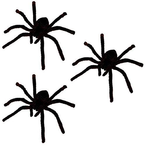 3 große haarige Spinnen Dekoration Spinne Spiders zum Erschrecken Scherzartikel