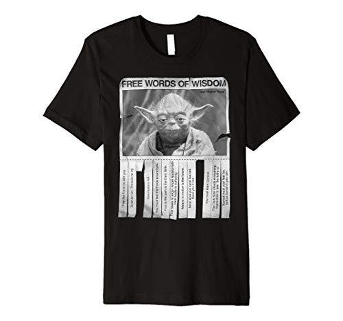 Star Wars Yoda Poster Words Of Wisdom Graphic T-Shirt