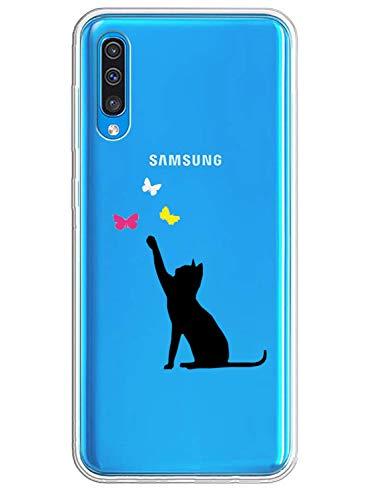 Caler Hülle Kompatibel mit Samsung Galaxy A20E Handyhülle TPU Bumper Silikon Transparent Weiche Schlank Schutzhülle Handytasche Gummi Dünn Flexibel Case Handy Soft Back Cover Handytasche