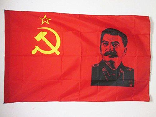 AZ FLAG Bandera de la URSS con Stalin 150x90cm para Palo - Bandera Comunista SOVIÉTICA 90 x 150 cm