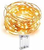Quace Copper String lights composed of Ultra Bright White Warm Color Micro LEDs that don't overheat giving a light fairy effect. After hours of use, they are completely safe to touch without risk of burns. The LED Starry Lights are safe for children ...