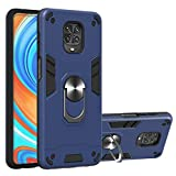 Grandcaser Redmi Note 9S Étui,Ultra Mince Hybride Double Action Militaire Anti Grand Support...