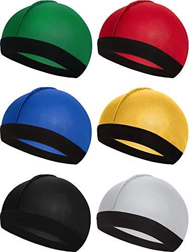 6 Stücke Gummiband Seidige Wellen Kappen für Herren Seidenmaterial für 360 540 und 720 Wellen (Farbe 3)