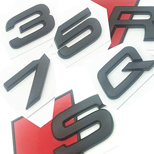 OEM ABS Nameplate for Audi R S Q 3 5 7 SQ SQ3 SQ5 SQ7 RSQ3 RSQ5 RSQ7 Sticker Matte Black Emblem 3D Trunk Logo Badge Compact (SQ5)