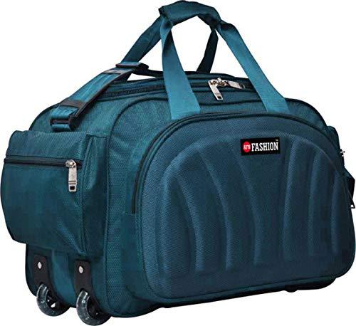 AFN FASHION Polyester Lightweight 60 L Luggage Travel Duffel Bag with 2 Wheels