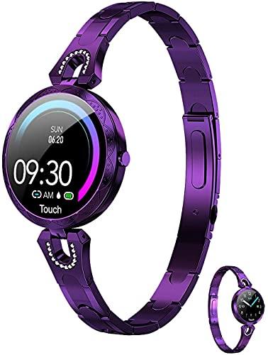 JSL Rastreador de actividad para mujer impermeable con monitor de ritmo cardíaco, pantalla a color, monitor de sueño, monitor de sueño