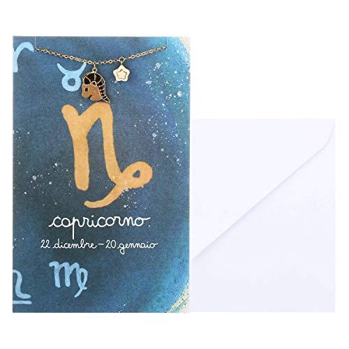 THUN - Bracciale da Donna con Segno Zodiacale Capricorno - Oroscopo - Gioielli Donna - Ottone Placcato Oro e Ceramica