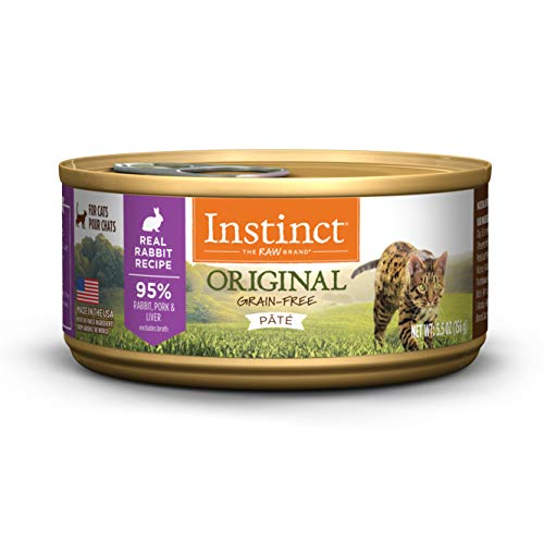 (12 Pack) Instinct Original Grain Free Real Rabbit Recipe Natural Wet Canned Cat Food by Nature's Variety, 5.5 oz. Cans (Case of 12)