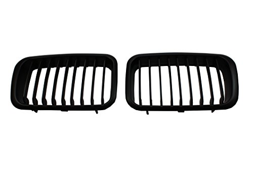 MATTE BLACK PERFORMANCE KIDNEY GRILLE GRILL FOR BMW E36 318 325 M3 1992-1996