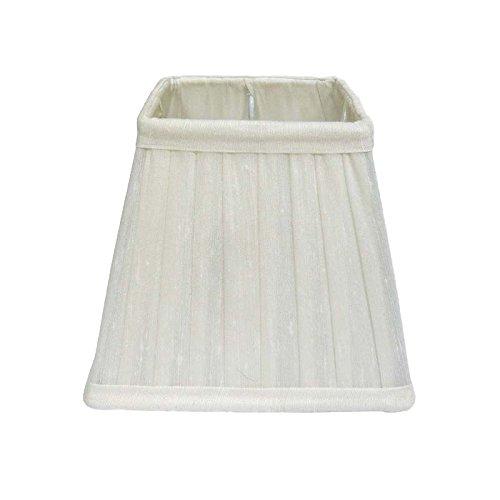 Better & Best lampenkap van zijde, vierkant, smal, 15 cm, wit
