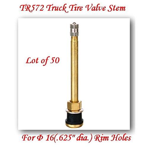 (Lot of 50) TR572 Truck Tire Valve Stem Wheels 22.5/24.5 for Rim Φ.625'.Holes L:4'
