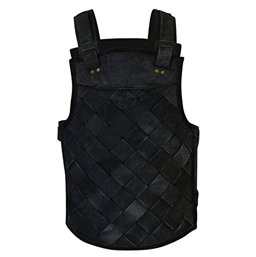 Armor Venue - RFB Viking Leather Armor - Adjustable Body Armour for Men and Women Black Medium