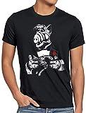 A.N.T. El Gatero Camiseta para Hombre T-Shirt Alf melmac Sitcom, Talla:5XL