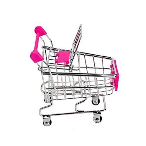 wufeng Bebé Niños Simulación Mini Carro de Compras Juguetes carros de Mano de supermercado Cesta del almacenaje de la Carretilla de Juguete