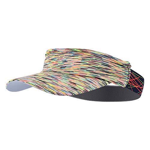 TEFITI Sun Visor Hat for Women Men, Adjustable Sports Hat for Golf Tennis Cycling Running Jogging (Yellow)