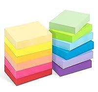 Lieferumfang: Diese Haftnotizen bestehen aus 75g Farbpapier, 12 Stück Haftnotizen 50 x 38mm, 100 Blätter / Stk, 12 Farben, insgesamt 1200 Blatt Qualität: Die Notizen bestehen aus hochwertigem Papier und sind einfach zu schreiben und wiederzuverwenden...
