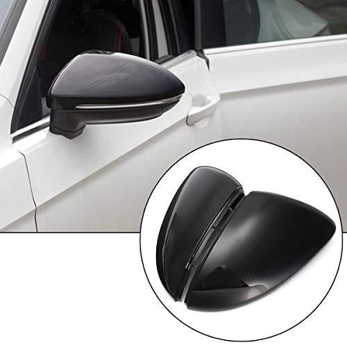 TOOGOO 2 Piezas Cubierta De Cáscara del Espejo Retrovisor Izquierdo y Derecho del Coche para Volkswagen Golf 7