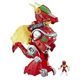 Playskool Heroes Power Rangers Red Ranger and Dragon Thunderzord, 7.5 cm action figure, 35 cm Zord, Lights and Sounds, Collectible Toys for Kids Aged 3 and Up