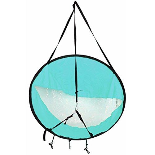 42,5/108 cm Caiaque Barco Vento Vela Canoa Sup Paddle Board Vela com janela transparente Pesca Barco a remo Deriva inflável com motor de popa (azul claro)