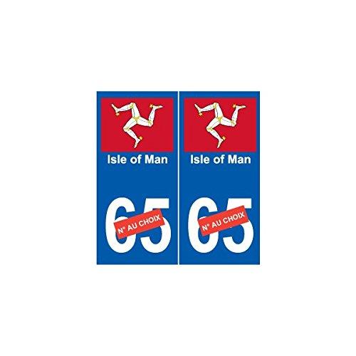 Adhesivo de la isla de Man para matrícula, número a elegir